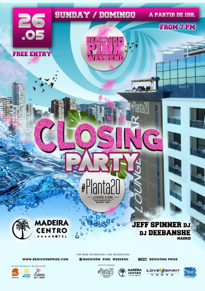 CLOSING PARTY BENIDORM PINK WEEKEND